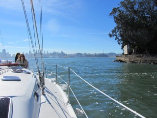 sailing thiiis close to alcatraz