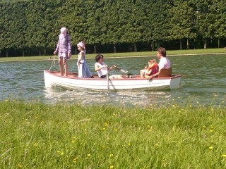 Family in a Boat at Versailles
